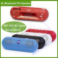 Wholesale Hi Fi Plus - XL Pill Speaker Protable Wireless Bluetooth Mini Stereo Handsfree speaker With Handle for Tablet iPhone 6 Plus S6 HTC MP3 Player DHL free