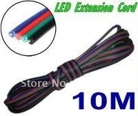 Wholesale Extension Led - 10M 4 pins LED RGB cable wire extension cord LED extension cable for 5050 3528 LED RGB light Strip RGB Stripe Connect Cable