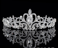 Wholesale Good Quality Hair Accessories - Crystal Bridal Wedding Jewelry Crown Tiara Headband Hair Accessories Prom Party Brand New Good Quality Free Shipping