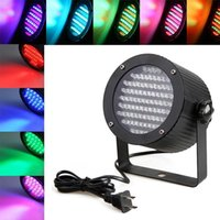 Wholesale 86 RGB W LED PAR Light DMX Lighting Laser Projector Stage Party Show Disco Stage Lighting Effect DJ Lamp Light KTV BARS Nightclubs