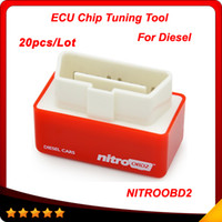 Wholesale Diesels Chip - 2016 New Arrival NitroOBD2 Diesel Car Chip Tuning Box Plug and Drive OBD2 Chip Tuning Box More Power   More Torque 20pcs lot DHL free
