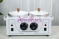 Wholesale Hot Wax Heaters - Double pots Wax Warmer Heater Dual Salon Hot Facial Skin Equipment SPA