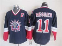 Wholesale 1994 New York Rangers - CHEAP 1994 STANLEY CUP CHAMPIONSHIP VINTAGE NEW YORK RANGERS #11 MARK MESSIER WHITE THROWBACK STITCHED MENS ICE HOCKEY JERSEYS