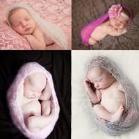 gestrickter nachtwäsche groihandel-5 Farben Baby handgemachte Wolle stricken Schlafsäcke Säugling Neugeborenen häkeln Schlafsack Nachtwäsche Schlafsäcke Geburtstagsgeschenk Kinder Kleidung