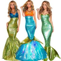 Wholesale dress up clothes for girls for sale - Group buy Women s Sexy Mermaid cosplay stage clothes Halloween costume Adult Carnival Fantasia Fancy party dressing up for lady woman big girls