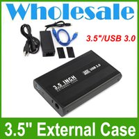 "Wholesale Wholesale Plastic Enclosures - USB 3.0 External Hard Drive Enclosure for 3.5"" Hard Drives Wholesale Fast Shipping"