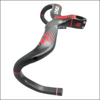 Wholesale Bicycle Bh - 2016 xinshun Road bike matt 3K full carbon fibre bicycle handlebar and stem integrated with computer stent holes bike accessories BH-3