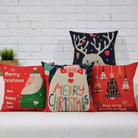 Wholesale Hotel Office Supplies - Wholesale-Nordic Style Christmas Series Pillow Case Linen Cotton Christmas Decorative Pillow Cover For Home Room Hotel Office Supplies