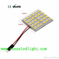 Wholesale 1157 Adapter - DC 12V White 20 28 30 LED Panel 5630 SMD Dome Light Lamp Bulb + T10 Festoon Adapter
