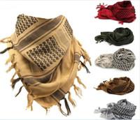ingrosso sciarpe tattiche militari shemagh-50pcs spesso musulmano Hijab Shemagh Desert Desert Sciarpa araba arabo sciarpe uomini inverno militare antivento sciarpa R060