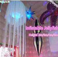 Wholesale Jellyfish Lighting - Customized Party Decorative 3m Height Inflatable Jellyfish with RGB Light for Party and Event