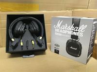 Wholesale Wireless Noise Isolating Headset - Marshall Major II 2.0 Bluetooth Wireless Headphones DJ Headphone Deep Bass Noise Isolating Headset Earphone for iPhone Samsung Smart Phone