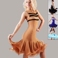 Wholesale New Arrival Latin Dance Dresses - 2015 New Arrival Lady Ballroom Dance Dress Latin Costume Dance Latine For Women Vestidos De Baile Latino Tango Rumba Samba Skirt DQ3017