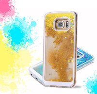 Flotante Glitter Star Quicksand Liquid Dynamic Case para Samsung Galaxy S6 Edge Plus Nota 5 Nota5 Grand Prime Core G530 G360 A5 A7 MOTO G2