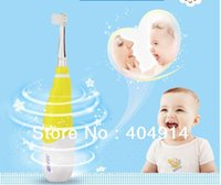 Wholesale Led Toothbrush - Children Soft Brush Electric Snoic Toothbrush for 2 to 5 Years Kids with LED lamp battery power IPX7 Waterproof