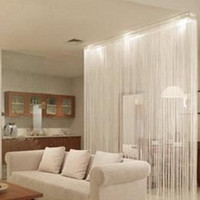 Wholesale Solid Room Doors - Solid color string curtain 1 m*2m decoration partition Simple elegant romantic door curtains for living room,Sheer Curtains free shipping