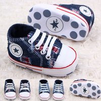 Wholesale Hook Buckle Price - Wholesale and retail 2015 St best price baby Blue denim shoes. Lace + pentagram pattern toddler shoes 0-24 months baby wear cheap kid shoes