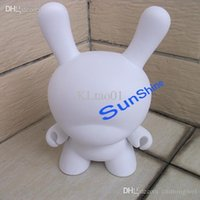 Wholesale White Dunny - Kidrobot Blank White Rabbit Moble DIY Toys Unpainted Dunny Doll Munny 8 inch