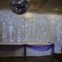 Wholesale China Led Curtain - Cheap wedding backdrop led curtain light White wedding stage background curtains wedding drapery china event party supplier