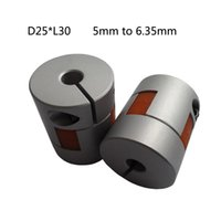 Wholesale Chain Roller Ship - Plum-style Jaw Shaft Coupling 5mm to 6.35mm Flexible Coupler D25L30 for dc motor from tsiny motor free shipping