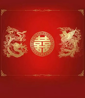 Wholesale Chinese Photography Background - New Cameras 5X7ft Wedding Chinese Red Studio Backgrounds For Photos Muslin Computer Printed Digital Cloth Photography Backdrop