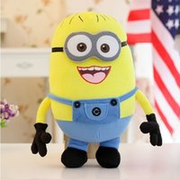 "Wholesale Minion Plush Toy Small - Despicable ME, 3D Eye Minions, Jorge Stewart Dave, Stuffed Doll, Movie Plush Toys, 26cm 10 "" inch Small Size"