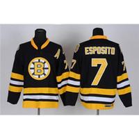 Wholesale Cheap Christmas Apparel - #7 Black Ice Hockey Jerseys Bruins Phil Esposito Hockey Jerseys Cheap Popular Sports Uniforms Professional Hockey Apparel Christmas Sale