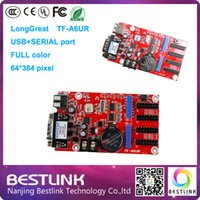 Wholesale Serial Led Display - Wholesale-Longgreat TF-A6UR led control card 64*384 pixel USB+SERIAL port control card for p6 p8 p10 p12 p16 p20 outdoor rgb led display