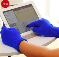Wholesale Ipad Acrylic - Touch Screen Glove With retail pack women's Glove Capacitive Touch Screen Gloves for phone ipad smart phone iGloves gloves
