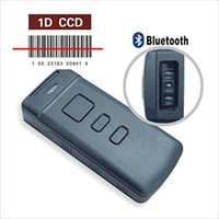 Wholesale Mini Barcode Scanner - Wholesale- Mini Portable CT30 5Mil 1D Bluetooth Laser Barcode Scanner Wireless 10,000 Off-line saving for Windows Android IOS