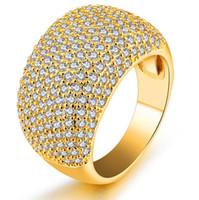 gelbgold saphir ring großhandel-Choucong Modeschmuck Voll Tiny White Sapphire 10KT Gelbes Gold Füllte CZ Diamant Edelsteine Frauen Ehering Ring Für Liebhaber Geschenkbox