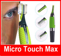 Wholesale Eyebrow Hair Clipper Trimmer - wholesale Men Body Nose Nasal Ears Eyebrow Face Hair Trimmer Shaver Clipper Facial Cleaner Home Health Care LED Light Micro Touch Max
