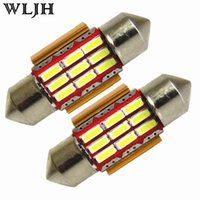 WLJH CANBUS 31mm 36mm 39mm 41mm Festoon Car Intérieur Éclairage Auto Lamp DE3175 4014 Chips 9 SMD Dome Map Light Bulb Trunk Light