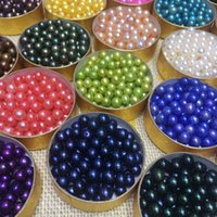 Wholesale 7mm Round Beads - 6-7MM Round Akoya Pearls Bright Color AAA Loose Pearl Beads Mixed Colors 27 Colors DIY Jewelry Making Beads FP065