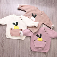 Wholesale Boy Maternity - Baby Girl Sweaters Children TopsWarm Fleece Pullover Sweaters Maternity And Kids Clothes Boys Blouse Winter Long sleeved Jumpers