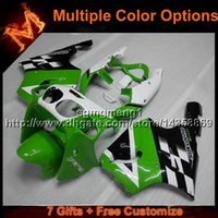 Wholesale 99 Zx7r Plastics - 23colors+8Gifts GREEN motorcycle cowl for Kawasaki ZX-7R 1996-2003 96 97 98 99 00 01 02 03 ZX 7R 1996 2003 ABS Plastic Fairing