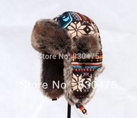 Wholesale Ear Protector Cold - Wholesale-Women winter bomber hats thermal ear protector hat skiing cold-proof knitted hat