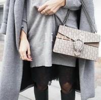 Wholesale womens cross body handbag - Newest Style high quality Fashion Vintage 28 cm womens Fashion brand Leather handbags shoulder Bags tote envelope bag Cross Body totes brown