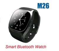 Wholesale Price Waterproof Android Phone - M26 Smart watch for IPhone Samsung Note HTC Android Phone LED Display Wearable Waterproof Factory Price Free DHL