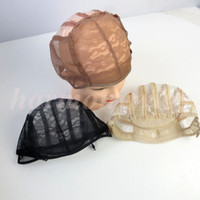 Wholesale Wig caps for making wigs stretch lace weaving cap adjustable straps back human extensions wig tools