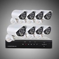 8ch cctv dvr оптовых-DHL бесплатно 8ch H. 264 видеонаблюдения DVR 8 шт. 480tvl День Ночь всепогодный безопасности камеры видеонаблюдения H204