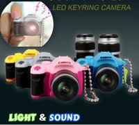 Wholesale Fun Keychains - DHL Free Shipping DSLR Camera Flash Light LED Key Chains With Shutter Sound Toy keychain Pendant Fun interesting Promotion gift KC176