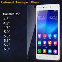 xiaomi beschützer großhandel-Universal 4,5 4,7 5,0 5,3 5,5 Zoll Premium Echtglas Displayschutzfolie Proof für Xiaomi Wiko