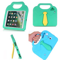 Wholesale Ipad Tablet For Kids - Tablet PC Cases Kids Cartoon ShockProof Soft EVA Stand Case Cover For ipad case T110 T230 iPad air mini 1 2 3 4 9.7(2017) GSZ409