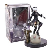 Wholesale 2017 hot NieR Automata B YoRHa Type B PVC Figure Collectible Model Toy with Retail Box cm