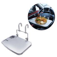 Wholesale black laptop stand - Car Laptop Desk Food Fruit Notebook Ipad Drink Holder Stand Steering Wheel Tray Eating Wheel Table Holder