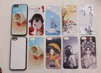 Wholesale Green Plastic Sheets - 2D Rubber TPU+PC sublimation blank case for iphone 5S with metal sheet with glue free shpping 500pcs lot
