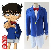 Wholesale School Uniforms For Boys - Wholesale-japanese anime Detective Conan cosplay carnival costume halloween costumes for men boy School Uniform free shipping