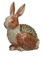 Wholesale Rabbit Jewelry Box - 2015 Rabbit trinket box animal jewelry box gifts box metal craft vintage trinket pot jewelry organizer souvenir birthday Mother day gift