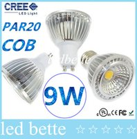 Wholesale Dimmable PAR20 E27 E26 GU10 Led Spotlights X9W COB GU10 GU5 MR16 Led Bulbs Light Warm Cool White AC V CE FCC